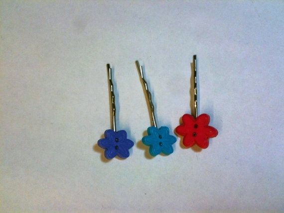 Colorful Bobby Pins For Your Little Princess by toppytoppy on Etsy, $6.75
