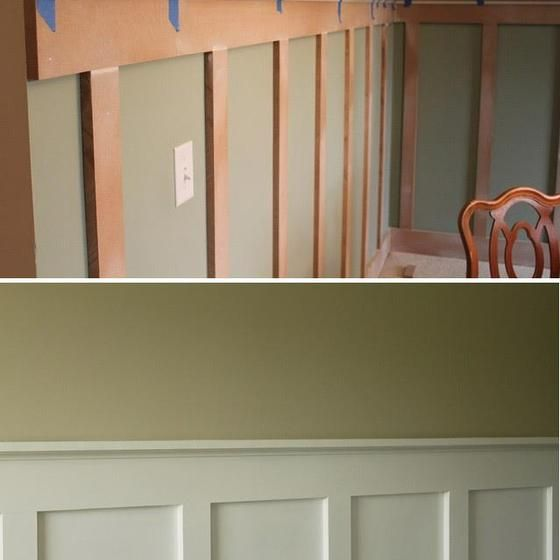 *Dining Room/formal Living Room* Less Expensive Way To Have Chair Rail/wainscoting  DIY   Board And Batten Step By Step Tutorial