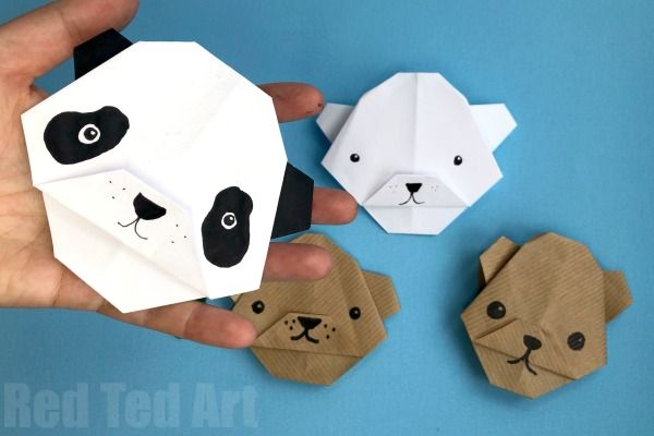 Easy Origami Bear - Panda Bear - Polar Bear - Brown Bear ... - photo#24