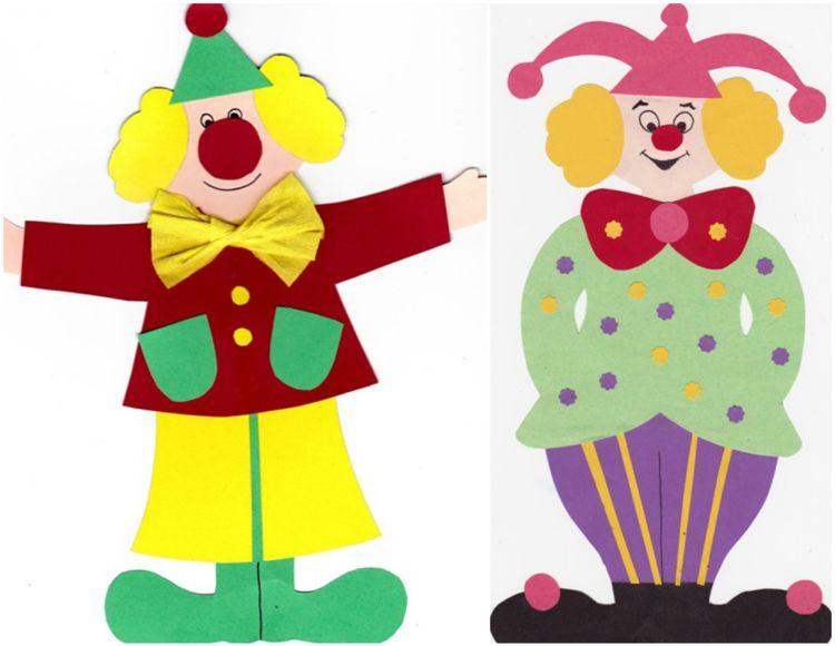 Karneval Clown Basteln Mit Kindern Basteliedeen Ideas Fasching