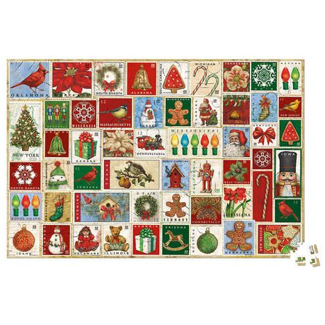 Holiday Stamps Puzzle Puzzling Christmas Puzzle Christmas