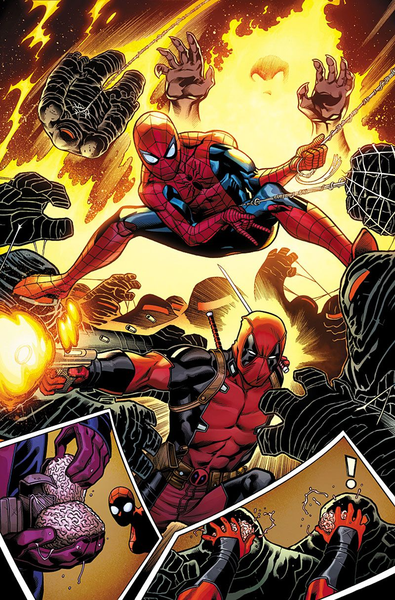 #Spiderman #Fan #Art. (SPIDER-MAN/DEADPOOL #1 - pg. 4 of 8) By: Ed McGuinness. (THE * 5 * STÅR * ÅWARD * OF: * AW YEAH, IT'S MAJOR ÅWESOMENESS!!!™)[THANK Ü 4 PINNING<·><]<©>ÅÅÅ+(OB4E)