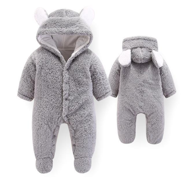 Baby Flannel newborn clothes Romper thick Cotton boys girls winter warm Rompers