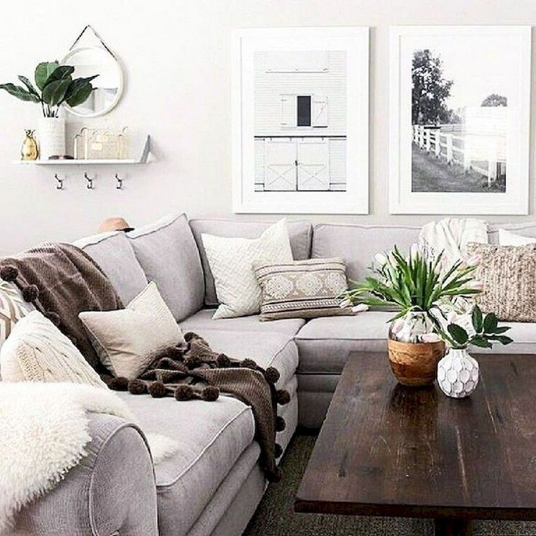 beautiful modern farmhouse living room decorating ideas for the home decor also rh pinterest