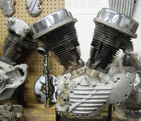 image of 1948 panhead engine for model f harley bobber by