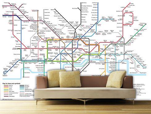 London underground tube map designer wallpaper wall mural free uk london underground tube map designer wallpaper wall a bit of home sciox Images