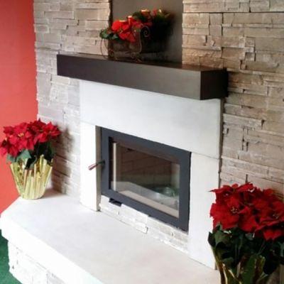 Steel Fireplace Mantel Shelf Stove Fireplace Steel And Shelves