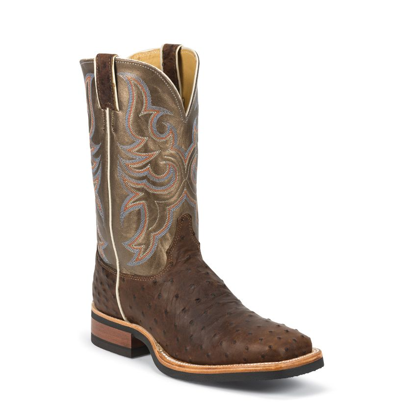 Justin Men's AQHA Full Quill Ostrich Western Boots