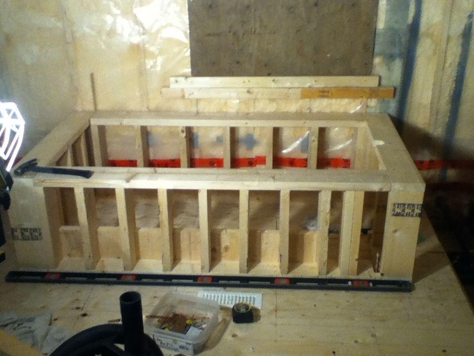 Framing for an under mount tub installation   How 2 DIY   Pinterest ...