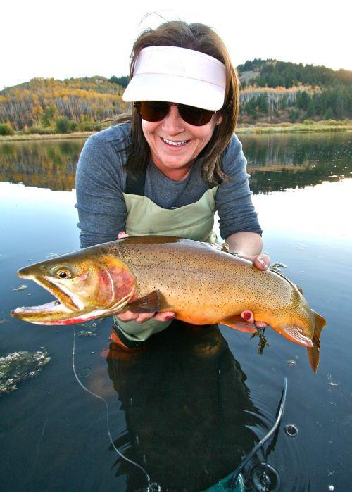 Fly Fishing | Women Fishing | Fish, Fly fishing girls, Trout fishing