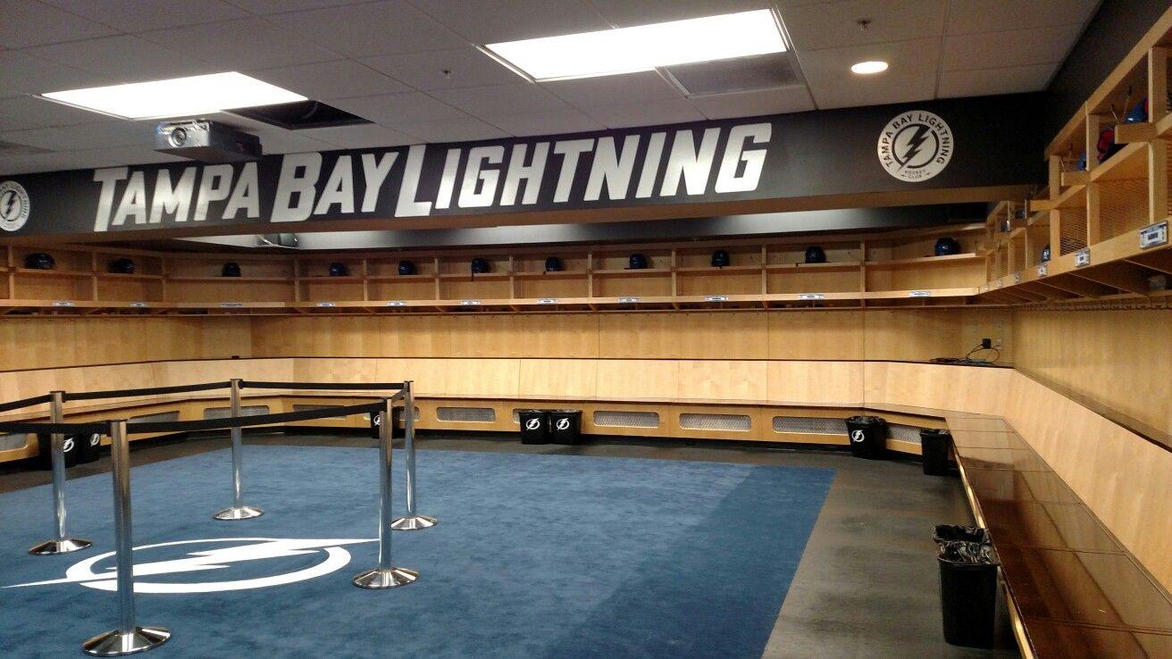 Lightning Locker Room Go Bolts Tampa Bay Lightning Tampa Bay