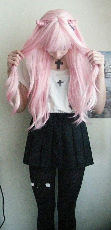 perfect pastel pink hair kitty