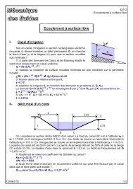 Cours Et Exercices Corriges En Ecoulement A Surface Libre Master1 Pdf Recherche Google Diagram
