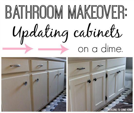 Bathroom Makeover: Updating Cabinets On A Dime.