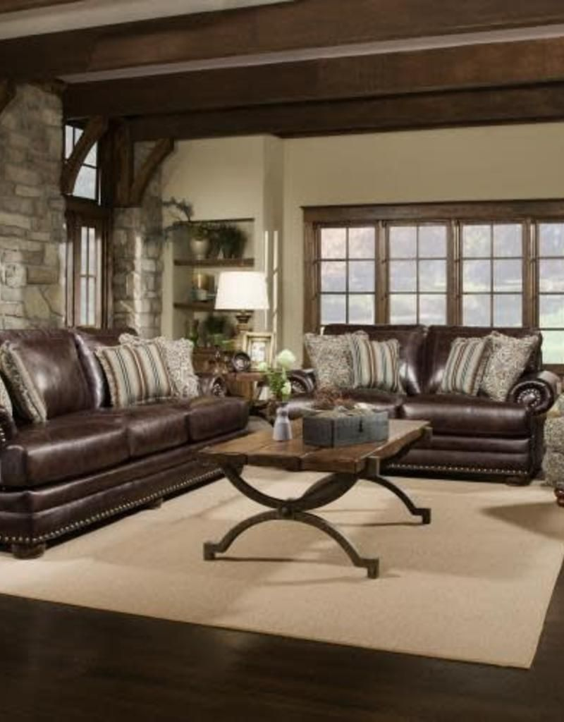 Corinthian Next Week Chocolate Love Brown Living Room Leather Sofa And Loveseat Brown Couch Living Room