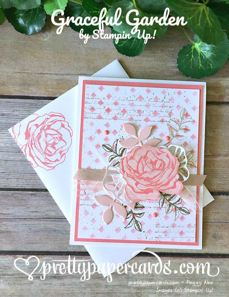 Oh My Goodness Graceful Garden Pretty Paper Cards Rose Card