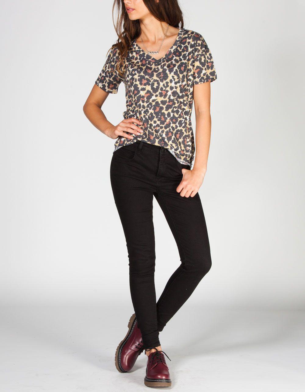 VANS Leopardy Womens Tee 224896435 | Graphic Tees & Tanks | Tillys.com