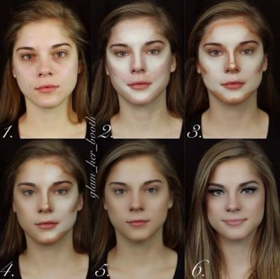 makeup contouring how to....this is insane how it makes her look completely different but very pretty!