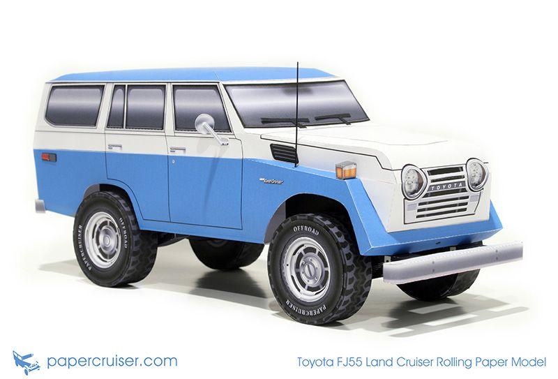 Toyota Fj55 Land Cruiser Rolling Paper Model Http Papercruiser Com Downloads Fj55 Land Cruiser Rolling Model Womo