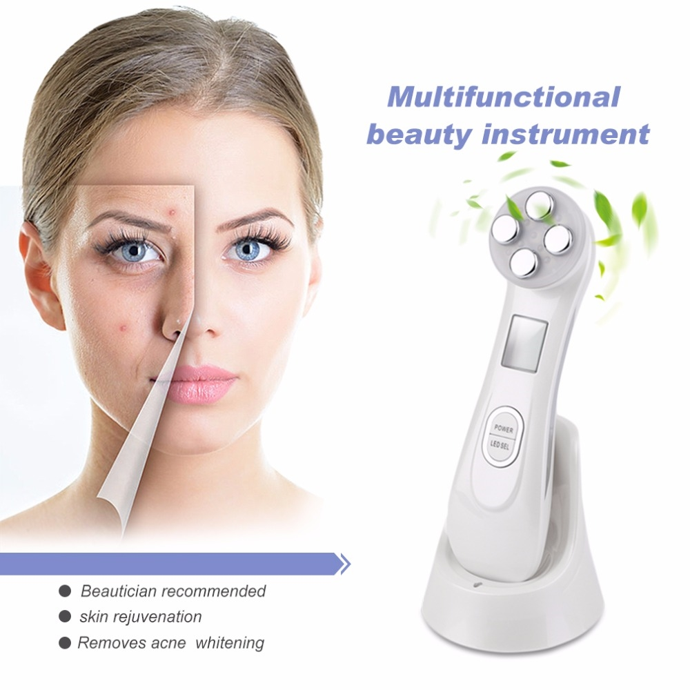 31 99 Watch Now Professional Women Facial Care Instrument Facial Vibration Massager Beauty Instrument Anti Wrinkle Acne Remove Krasota Zdorove