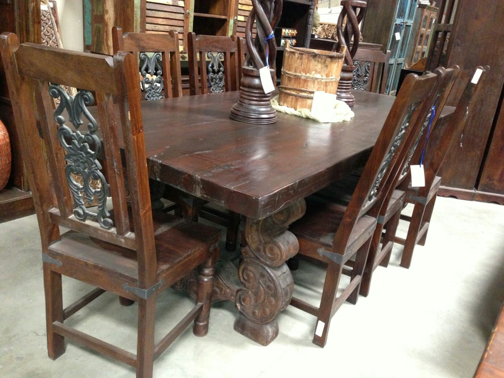 Pin By Melissa Robertson On Spanish Renaissance Wood Dining