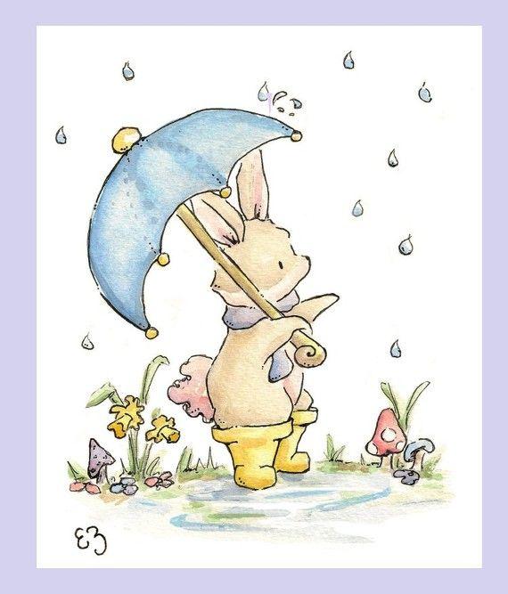 Lluvias de abril. IMPRIMIR. 8 X 10. decoración de por LoxlyHollow ...
