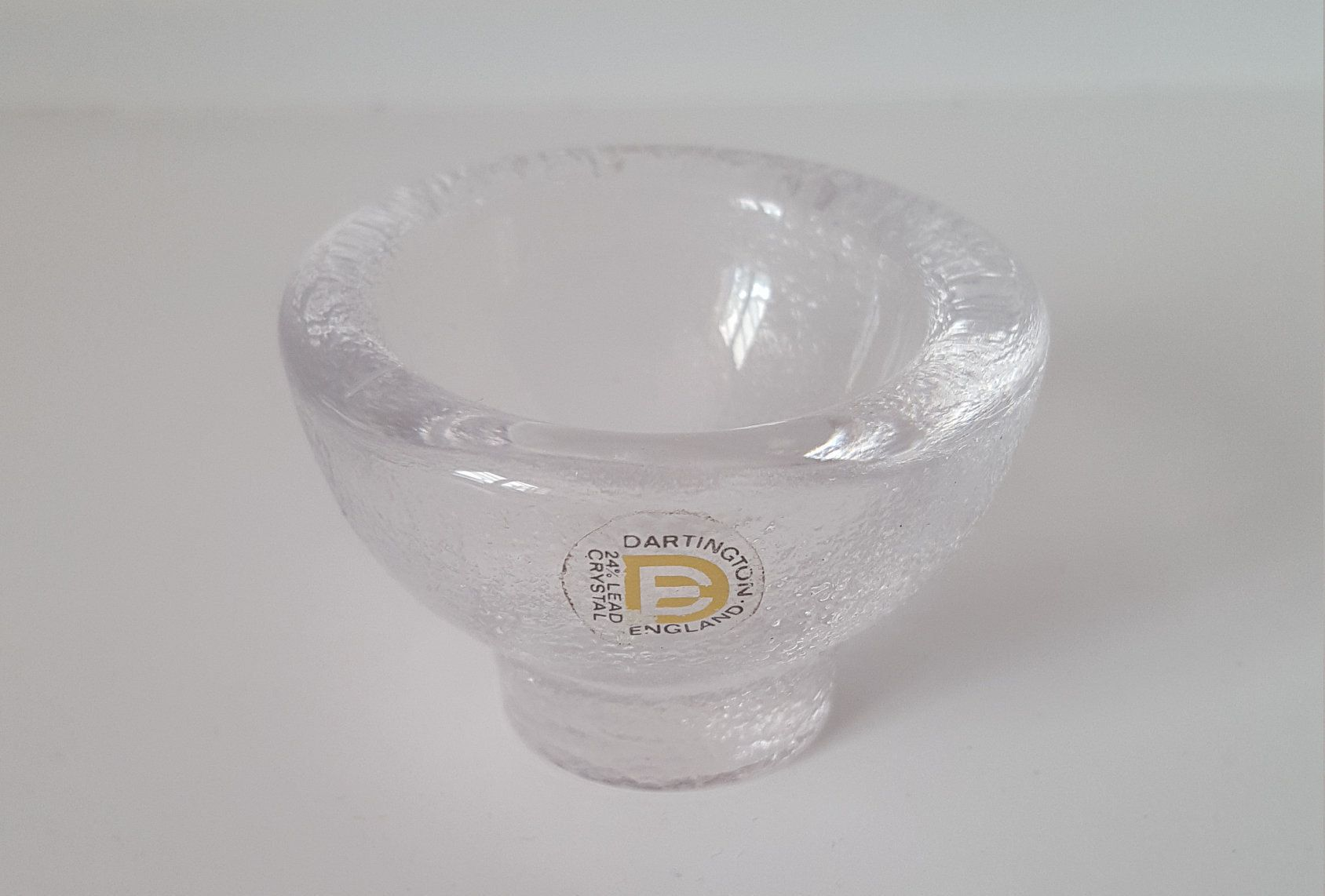 Able Dartington Glass Butter Plate Glass