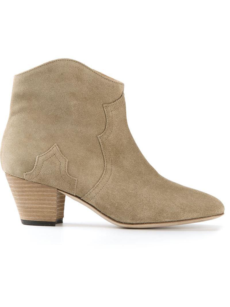 Ankle Boots New Dicker aus Veloursleder Isabel Marant VsN8b