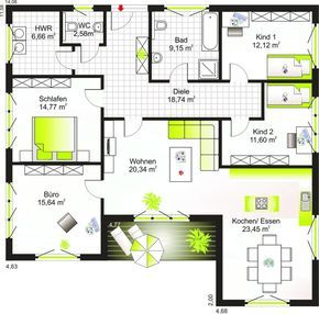 Bungalow 135 Grundriss Plans Bungalow Floor Plans