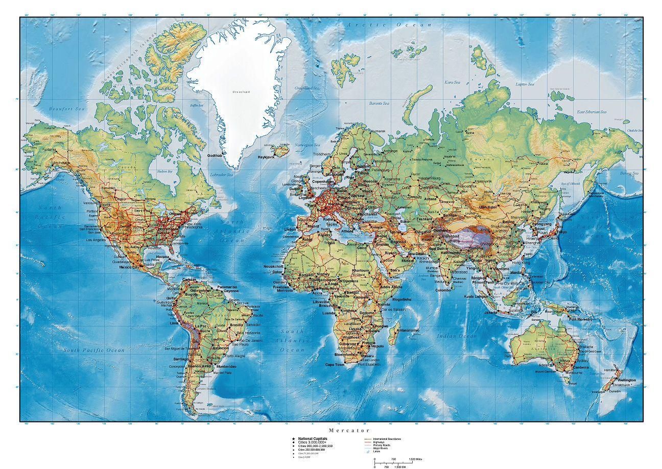 carte du monde d taill e image imprimer 3 cartes pinterest carte du monde mappemonde. Black Bedroom Furniture Sets. Home Design Ideas