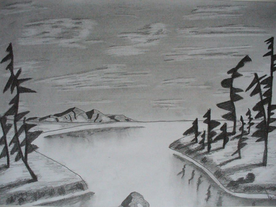 Easy landscape drawings pencil background 1 hd wallpapers for Landscape pencil sketches simple