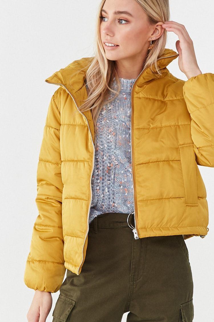 Toggle Drawstring Puffer Jacket Forever 21 Jackets Fashion Sweater Shop [ 1125 x 750 Pixel ]