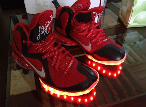 Cheap Lebron James 9 PE Lights Custom