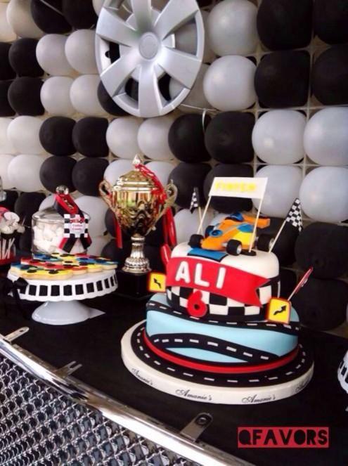 Boys Race Car Themed Birthday Party Aarons 1st Birthday Ideas