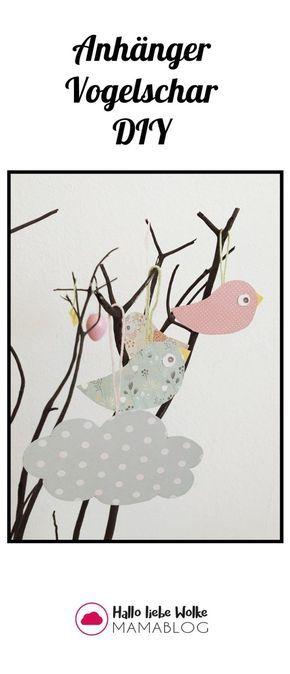 einfache anhänger vogel aus papier • hallo liebe wolke