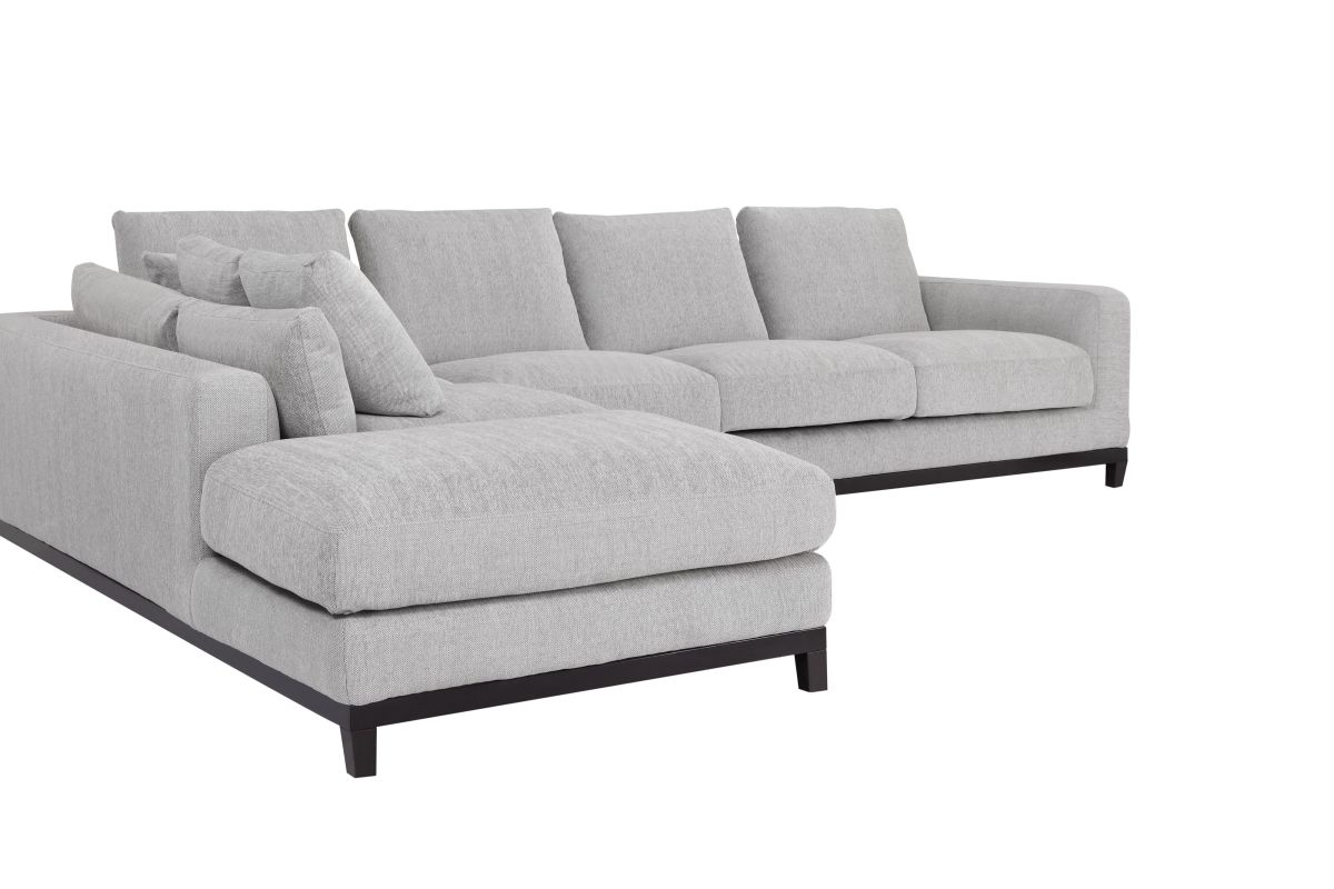 Kellan Sectional Sofa With Left Chaise Light Gray Condo