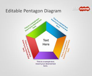 free pentagon powerpoint template with editable pentagon diagram is