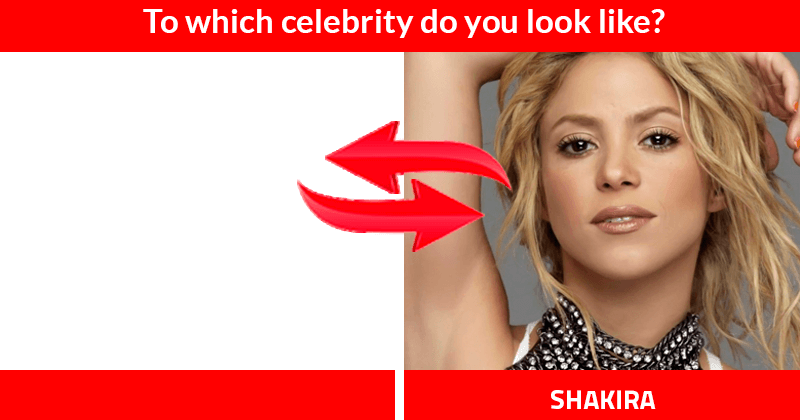 To Which Celebrity Do You Look Like Lindotest Com Best Tests Of World Celebrities Shakira Fashion