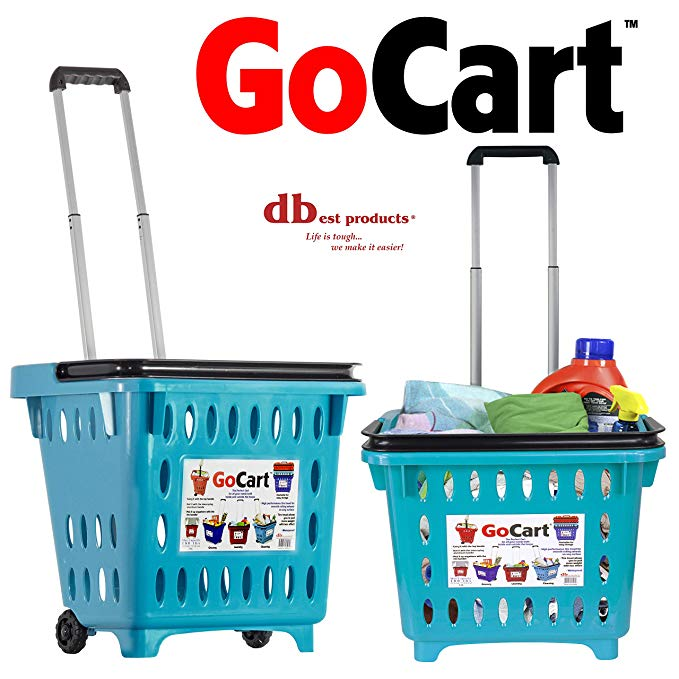 Amazon Com Dbest Products Bigger Gocart Grocery Cart Rolling