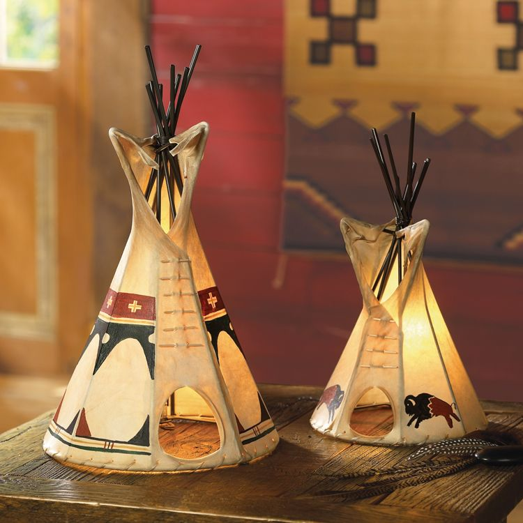 Teepee lamp for the home for American indian design and decoration