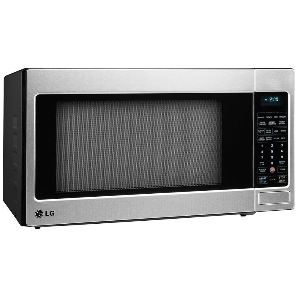 Lg Electronics 2 0 Cu Ft Countertop Microwave In Stainless Steel Lcrt2010st At The