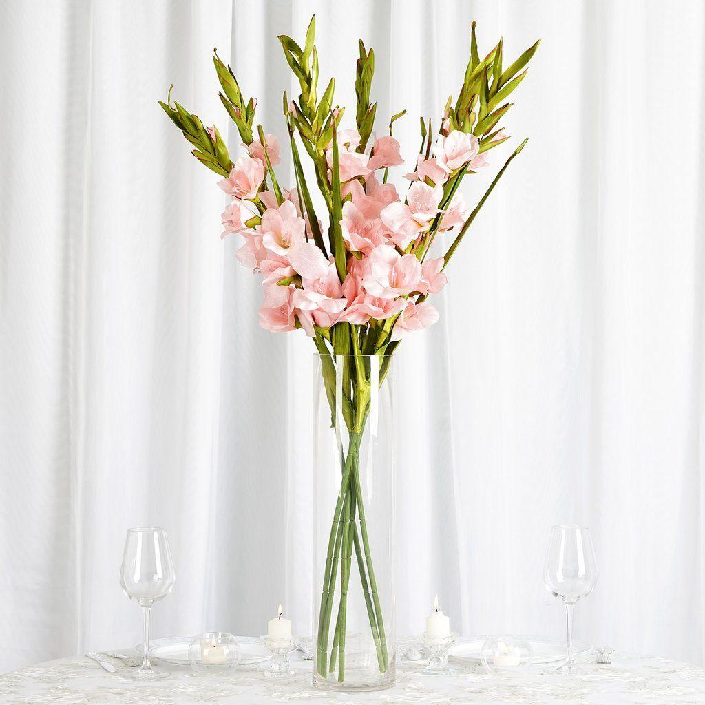 6 Stem 48 Pcs Pink Artificial Gladiolus Stem Flowers Clearance Sale Gladiolus Flower Pink Wedding Decorations Gladiolus