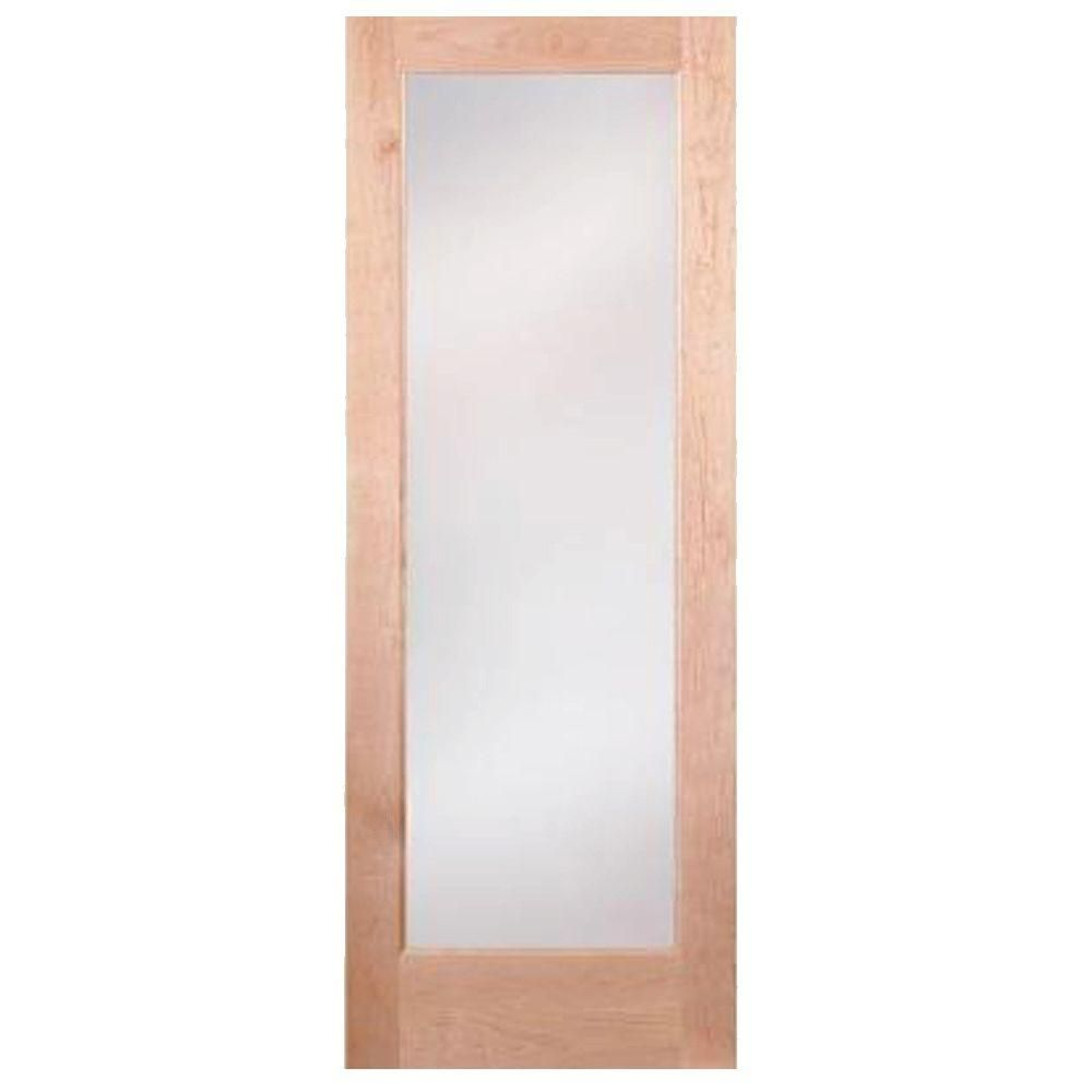 Steves & Sons 36 in. x 80 in. Full Lite Clear Glass Unfinished Fir ...
