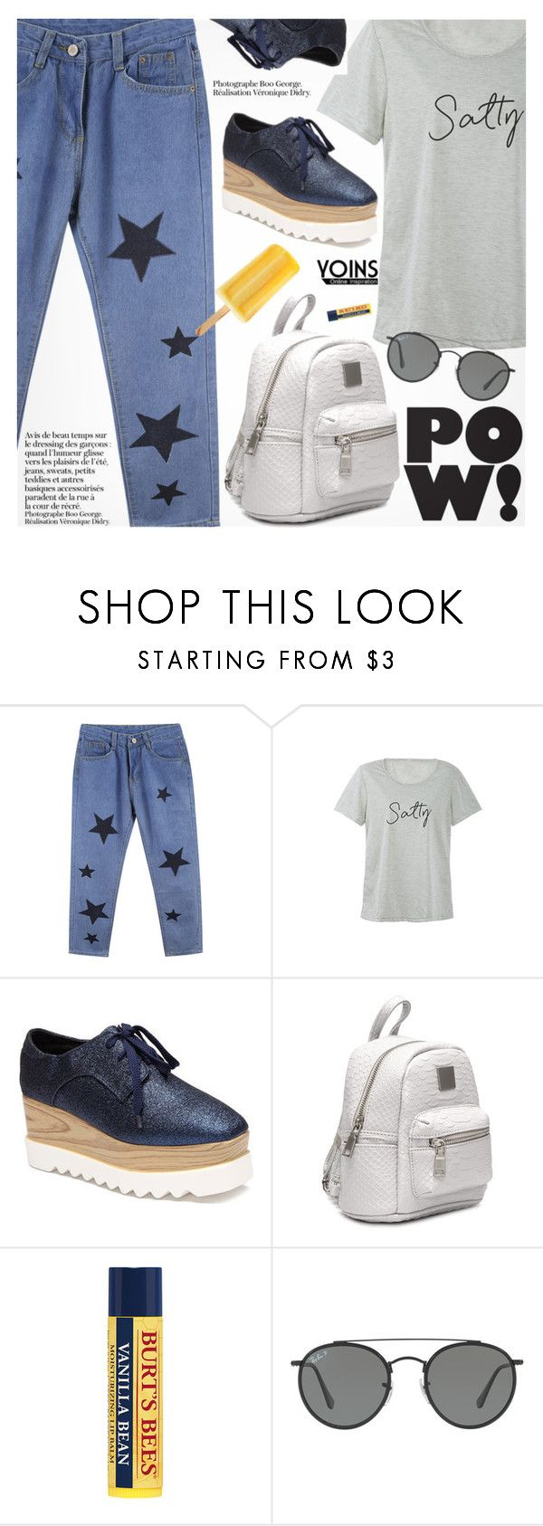 """Yoins 2:School Style"" by pokadoll ❤ liked on Polyvore featuring Ray-Ban, yoins, yoinscollection and loveyoins"