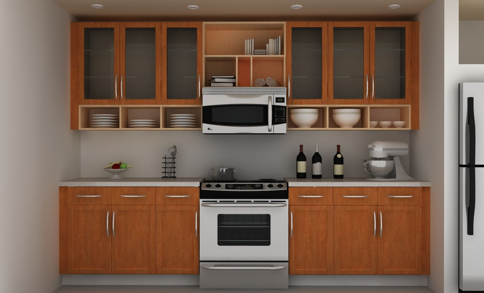 Kitchen Wall Cabinets For Easy Storage And Tidy Kitchen Kitchen