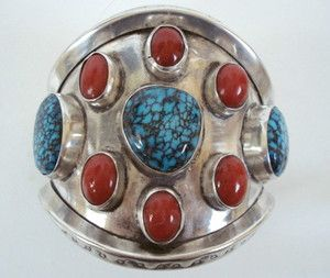 Antique Vintage Ethnic Tribal Native American Jewelry Fine Sterling ...
