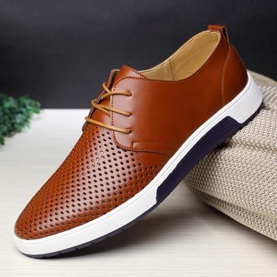 merkmak new 2018 men casual shoes leather summer