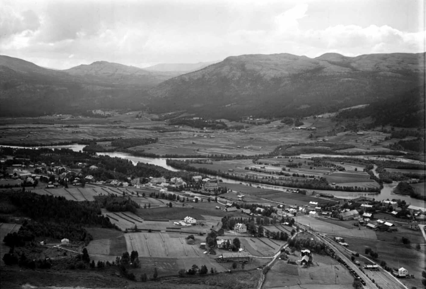 Hedmark fylke Østerdalen Alvdal kommune 1961 Utg Widerøe