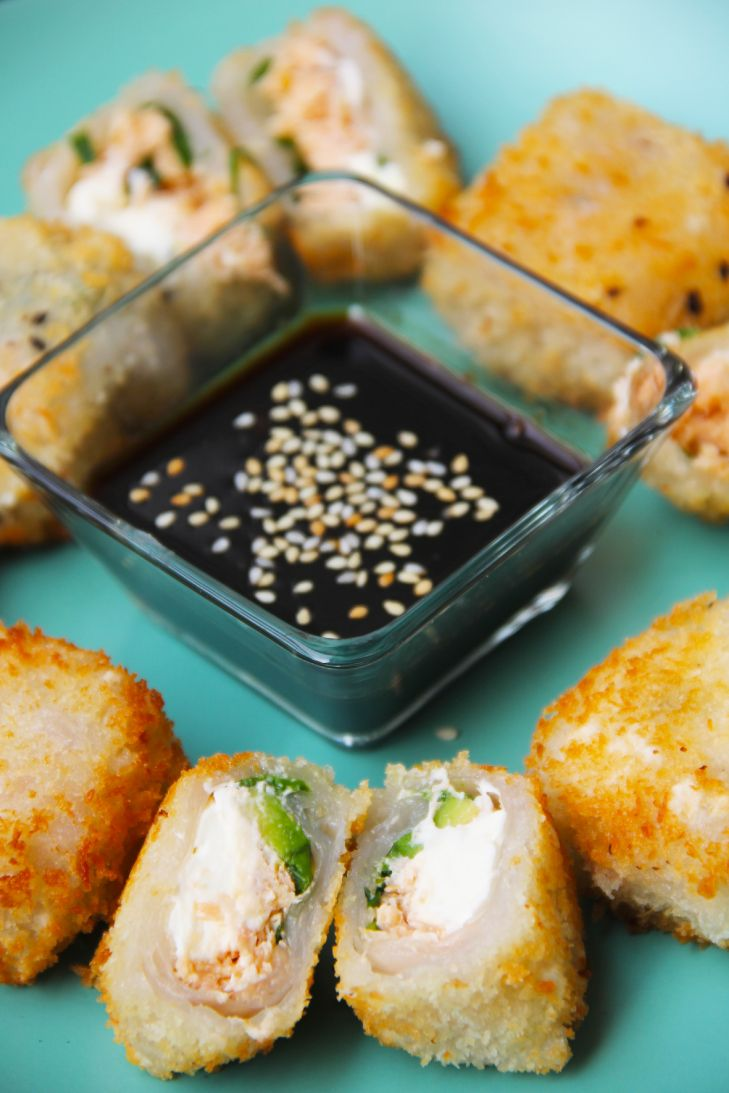 receta-rollos-papel-arroz-salmon-ahumado-queso-crema-panko-cherrytomate-4