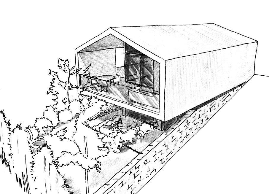 Esquisse 3D du plan maison Pinterest - Budget Pour Construire Une Maison
